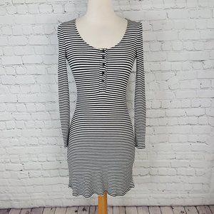 Reforamtion Sheath Dress Body Con Striped XS